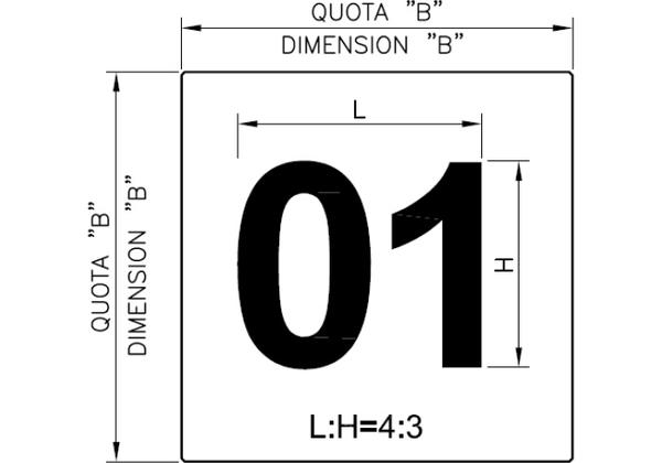 numbering of the loading bays dimension
