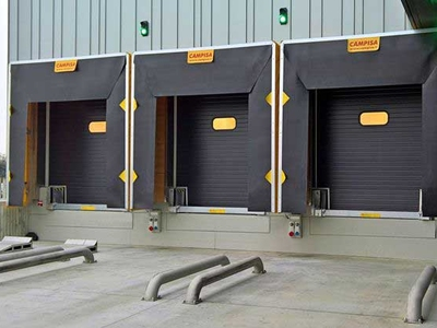 recessed loading bays