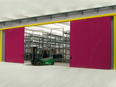 two leaves fire retardant sliding doors campisa
